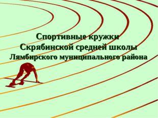 Спортивные кружки Скрябинской средней школы Лямбирского муниципального района