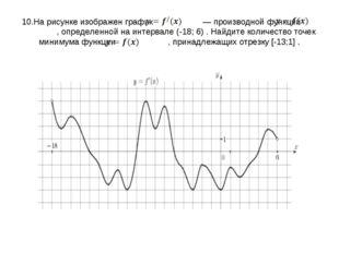 10.На рисунке изображен график   — производной функции  , определенной на