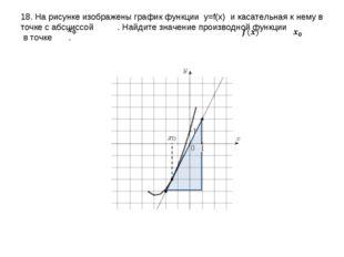 18. На рисунке изображены график функции y=f(x) и касательная к нему в точке