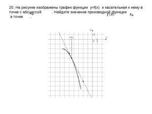 20. На рисунке изображены график функции y=f(x) и касательная к нему в точке