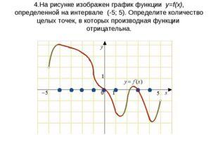 4.На рисунке изображен графикфункции y=f(x), определенной на интервале (-5