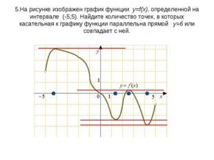 5.На рисунке изображен графикфункции y=f(x), определенной на интервале (-5