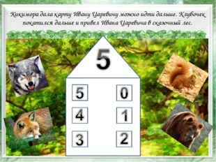 * Кикимора дала карту Ивану Царевичу можно идти дальше. Клубочек покатился да