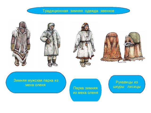 Традиционная зимняя одежда эвенков Зимняя мужская парка из меха оленя Парка з...