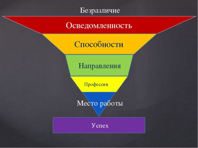 Осведомленность Способности Направления Профессия Место работы Успех Безразл...