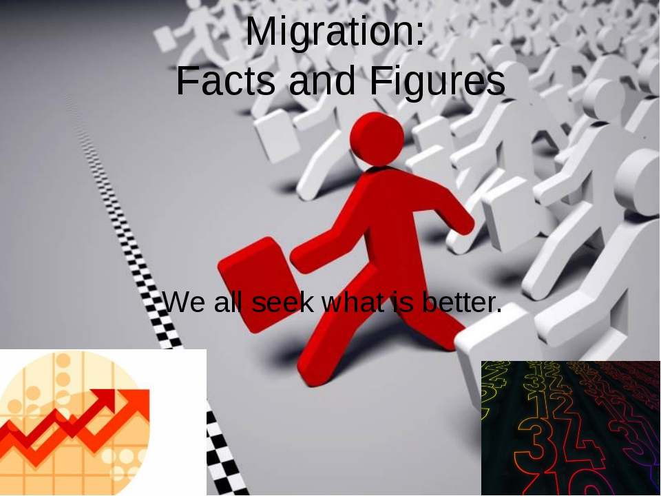 Migration: Facts and Figures We all seek what is better.