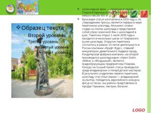 «Шоколадная фея» — памятник в городе Покров Владимирской области, высотой 3 м