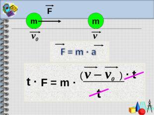 F = m · m v0 F m v v – v0 t · t t · ( )