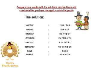 Compare your results with the solutions provided here and check whether you h