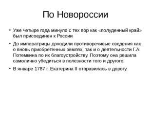 По Новороссии Уже четыре года минуло с тех пор как «полуденный край» был прис