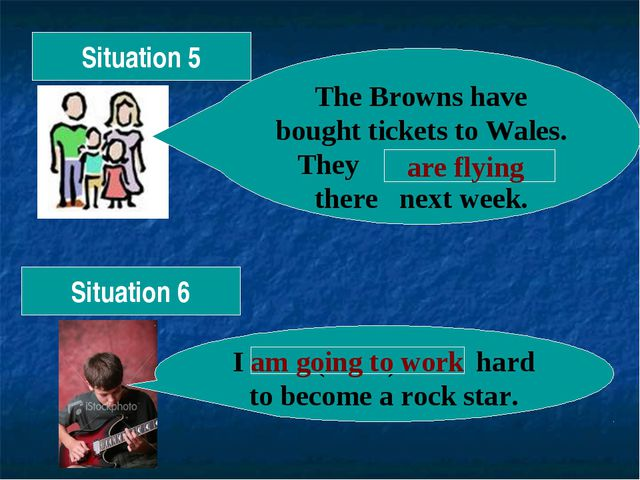 Situation 6 The Browns have bought tickets to Wales. They (fly) there next we...