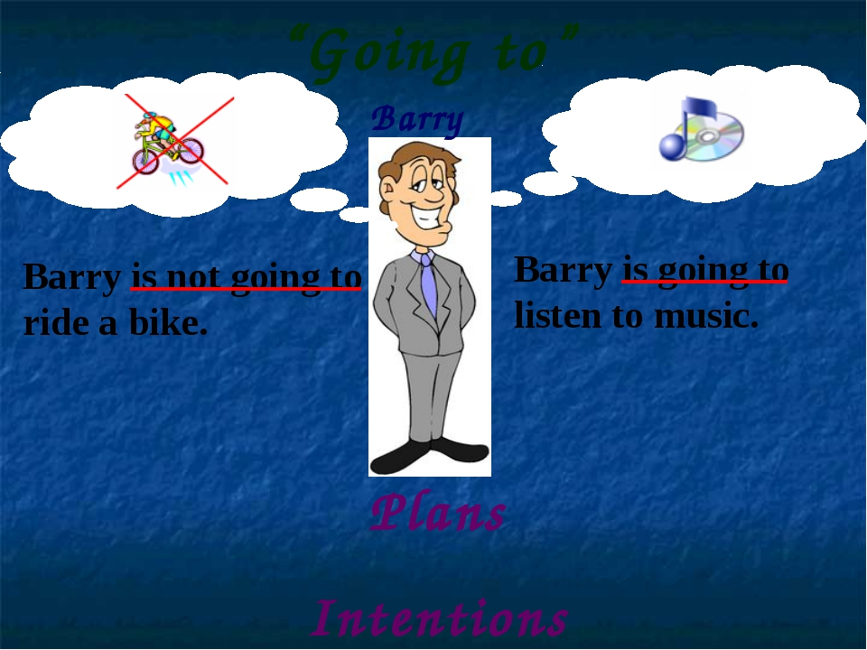Barry Barry is not going to ride a bike. Barry is going to listen to music. P...