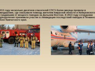 В 2013 году несколько десятков спасателей СПСЧ более месяца провели в команди