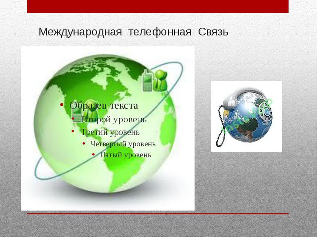 Международная телефонная Связь