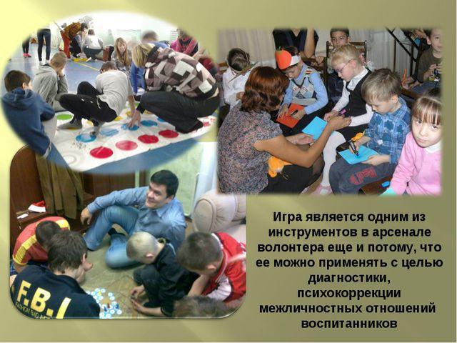 Игра является одним из инструментов в арсенале волонтера еще и потому, что ее...