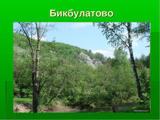 Бикбулатово