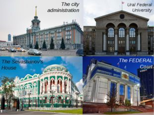 Sevatianov's house The city administration The Sevastianov's House The FEDER