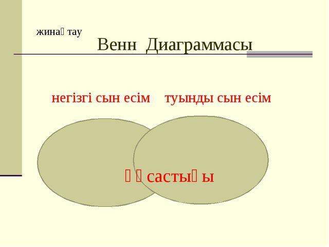 жинақтау Венн Диаграммасы негізгі сын есім туынды сын есім ұқсастығы