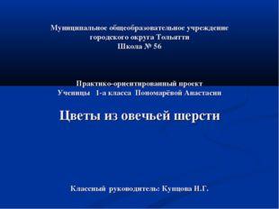 Муниципальное общеобразовательное учреждение городского округа Тольятти Школ