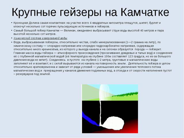 Крупные гейзеры на Камчатке Кроноцкая Долина самая компактная: на участке все...