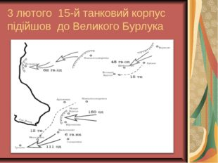 3 лютого 15-й танковий корпус підійшов до Великого Бурлука