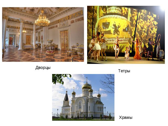 Дворцы Тетры Храмы