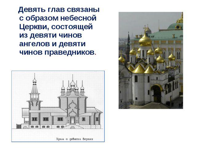 Девять глав связаны с образом небесной Церкви, состоящей из девяти чинов анг...