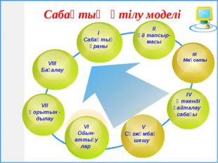 Сабақтың өтілу моделі V VIІ Қорытын - дылау ІІІ Мақсаты ІV Өткенді VIІІ Баға