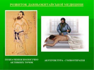 ПОЗНАЧЕННЯ БІОЛОГІЧНО АКТИВНИХ ТОЧОК АКУПУНКТУРА – ГОЛКОТЕРАПІЯ РОЗВИТОК ДАВН