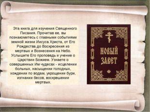 Эта книга для изучения Священного Писания. Прочитав ее, вы познакомитесь с гл