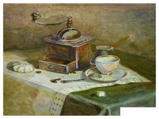 Смирнова А. «Кофе» акварель