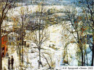 И.И. Бродский «Зима» 1922