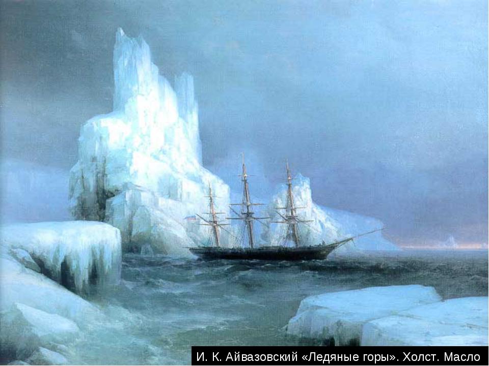 И. К. Айвазовский «Ледяные горы». Холст. Масло