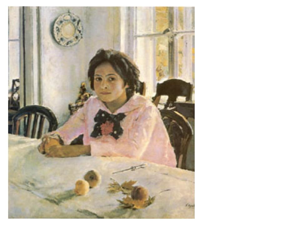 В. Серов. «Девочка с персиками» Масло