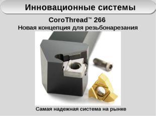 Инновационные системы CoroThread™ 266 Новая концепция для резьбонарезания Сам