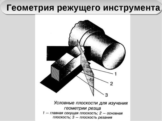 Геометрия режущего инструмента