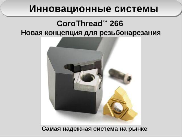 Инновационные системы CoroThread™ 266 Новая концепция для резьбонарезания Сам...