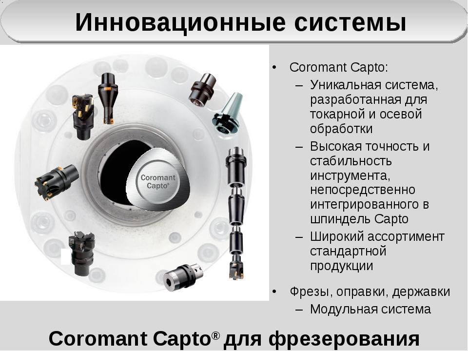 Coromant Capto® для фрезерования Coromant Capto: Уникальная система, разработ...