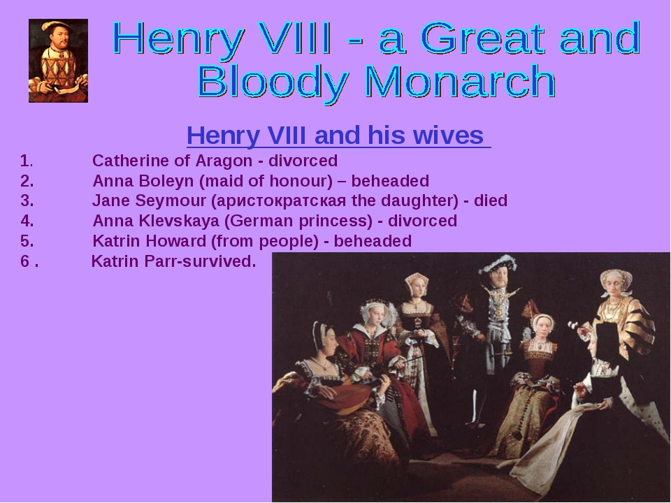 explain why henry viii and his Why did king henry viii support the protestant reformation king henry viii wanted to be able to divorce his wives and marrynew women so that he might have a male heir unfortunately for him,the catholic faith does not allow divorce without a just cause, sohenry viii supported the protestant.