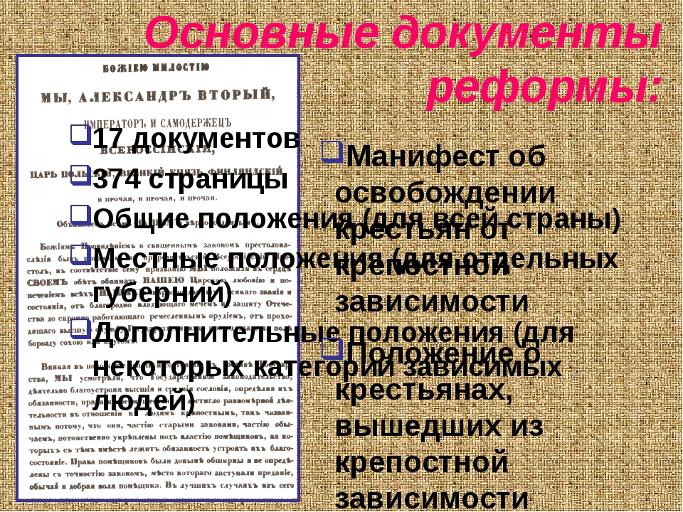 Основные документы реформы: 17 документов 374 страницы Общие положения (для в...