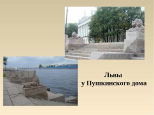 Львы у Пушкинского дома