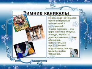Зимние каникулы Ну, а после встречи Нового года начинается время интересных