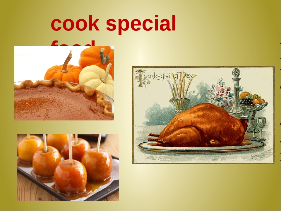cook special food