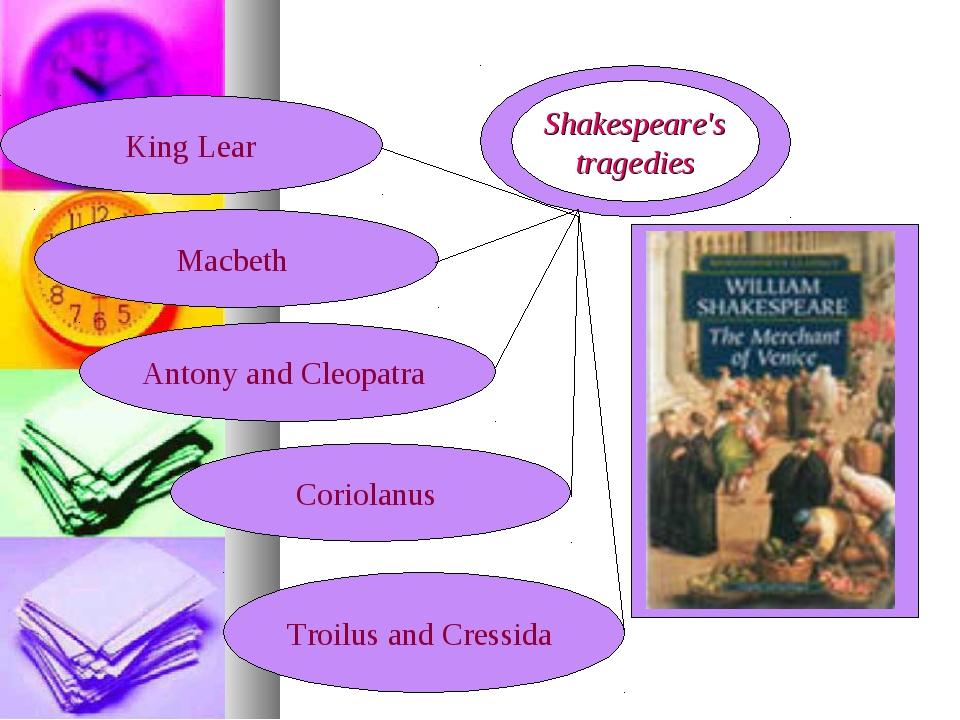 King Lear Shakespeare's tragedies Macbeth Antony and Cleopatra Coriolanus Tro...