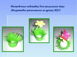Изготовление подставки для пасхального яйца (декоративно расписанного на уро