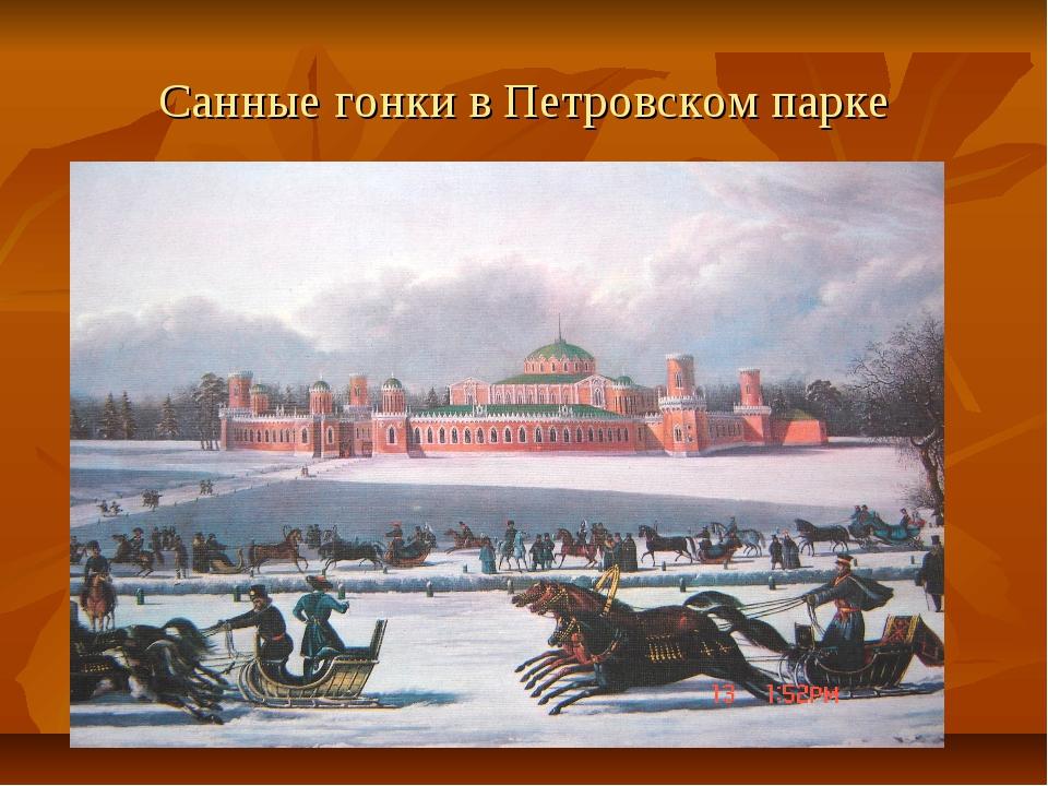 Санные гонки в Петровском парке