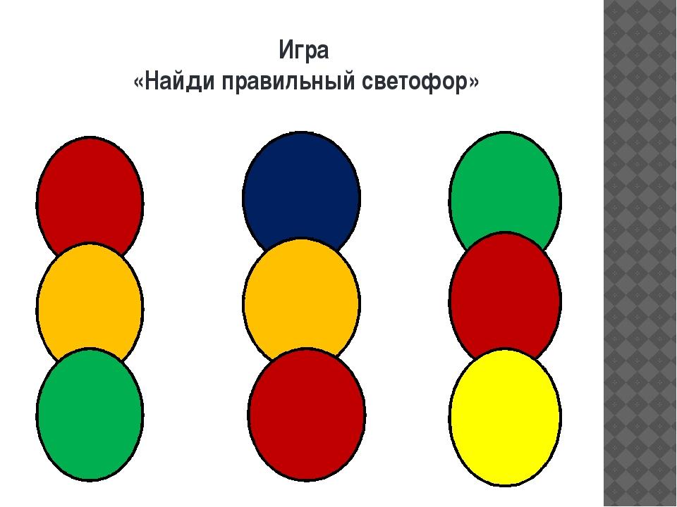 Игра «Найди правильный светофор»