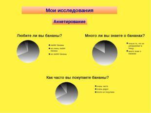 Мои исследования Анкетирование