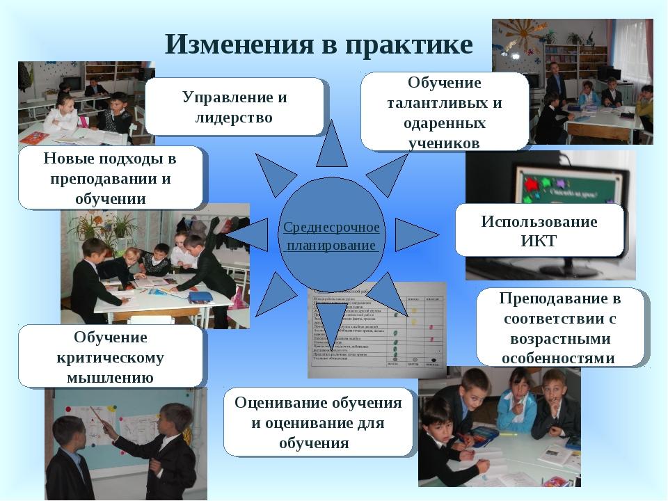 Изменения в практике Обучение талантливых и одаренных учеников Преподавание в...