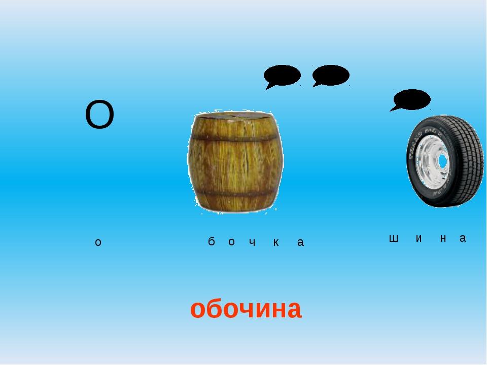 О обочина о б о ч к а ш и н а
